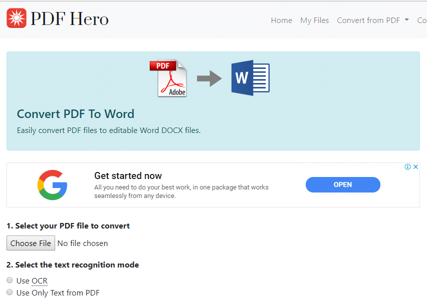 convery pdf to word